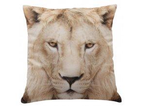 Polštář LEV MyBestHome 40x40cm fototisk 3D motiv lva