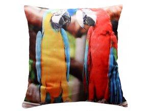 Polštář ARA MyBestHome 40x40cm fototisk 3D motiv papouška