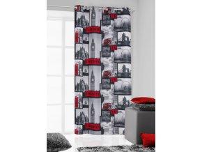 Dekorační závěs LONDON černá/bílá 140x250 cm MyBestHome