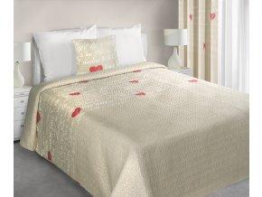 Přehoz na postel ALGOT 220x240 cm béžová Mybesthome
