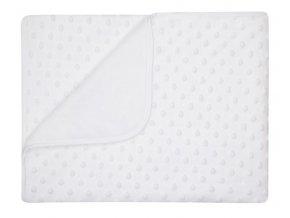 Dětská deka MAIA bílá MINKY 80x90 cm Mybesthome