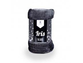 Deka z mikrovlákna IRIS tmavě šedá 150x200 cm Essex