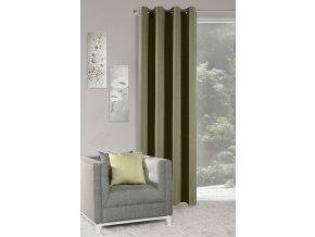Dekorační závěs MALAGA zelená 140x250 cm MyBestHome