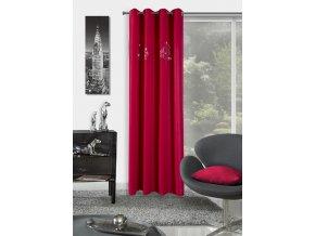 Dekorační závěs LEONARDO červená 140x250 cm MyBestHome