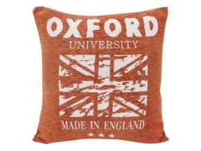 Polštář OXFORD 45x45cm žinylka/gobelín oranžová Mybesthome