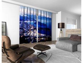 3D dekorační závěs 312V BLUE 160x250 cm set 2 kusy MyBestHome