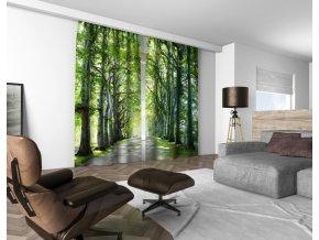 3D dekorační závěs 313V BŘEZOVÁ ALEJ 160x250 cm set 2 kusy MyBestHome