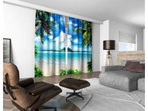 3D dekorační závěs 314V PARADISE ISLAND 160x250 cm set 2 kusy MyBestHome