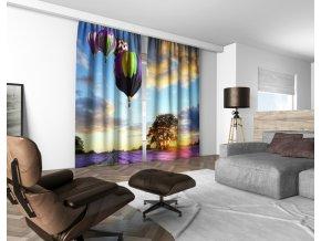 3D dekorační závěs 317V BALLOONS 160x250 cm set 2 kusy MyBestHome