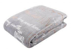 Deka z mikrovlákna COZY 150x200 cm šedá vzorovaná Essex