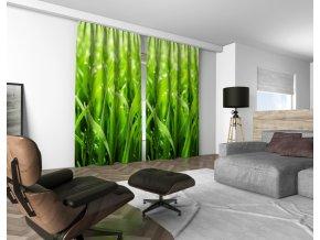 3D dekorační závěs 401V GREEN 160x250 cm set 2 kusy MyBestHome