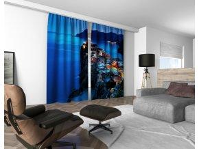 3D dekorační závěs 402V TWILIGHT 160x250 cm set 2 kusy MyBestHome