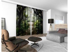 3D dekorační závěs 403V WAY TO CASTLE 160x250 cm set 2 kusy MyBestHome