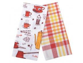 Utěrky MACCHIATO, 2 KUSY, 100% bavlna, červená, 45x65 cm Essex