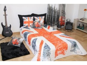 Přehoz na postel ENGLAND 160x200 cm vlajka Mybesthome