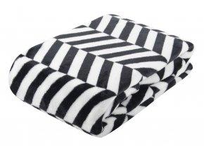 Deka z mikrovlákna BLACK AND WHITE motiv A 150x200 cm scandy styl Essex