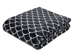 Deka z mikrovlákna BLACK AND WHITE motiv B 150x200 cm scandy styl Essex
