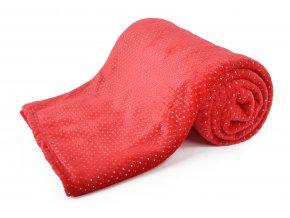 Deka z mikrovlákna BLINK 150x200 cm červená Essex