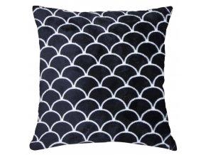 Polštář BLACK AND WHITE motiv B Essex 40x40cm, mikrovlákno geometrický vzor
