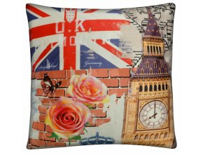 Polštář UNITED COLOR Essex 45x45cm motiv BIG BEN