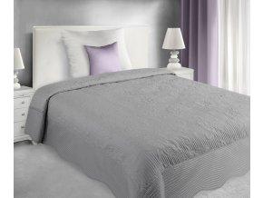 Přehoz na postel PANDORA 220x240 cm stříbrná MyBestHome