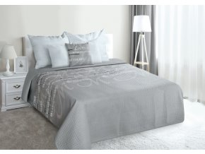 Přehoz na postel ALL MY LOVE 220x240 cm šedá/béžová MyBestHome