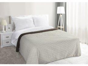 Přehoz na postel PLUTO 02 220x240 cm krémová/hnědá MyBestHome