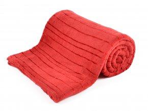 Deka z mikrovlákna DYLAN červená 150x200 cm Essex
