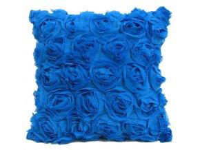 Polštář ROSE 40x40 cm, modrá MyBestHome