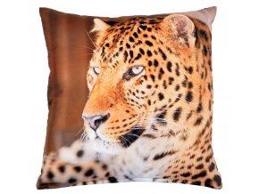 Polštář LEOPARD 102 MyBestHome 40x40cm  fototisk 3D motiv leoparda