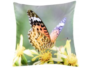 Polštář MOTÝL 01 MyBestHome 40x40cm fototisk 3D motiv motýla