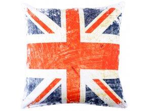 Polštář ENGLAND MyBestHome 40x40cm fototisk 3D motiv anglické vlajky