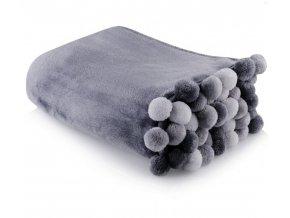 Deka z mikrovlákna PONNIE 150x200 cm tmavě šedá HOME & YOU