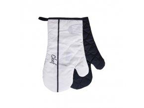Kuchyňské bavlněné rukavice chňapky CHEF, béžová, 100% bavlna 18x30 cm Essex
