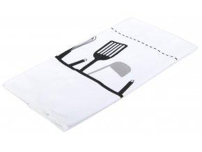 Utěrka CHEF mikrovlákno 38x63 cm, černá/bílá, Essex