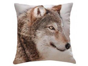 Polštář WOLF MyBestHome 40x40cm fototisk 3D motiv vlka