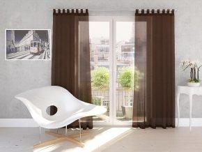 Dekorační záclona DIANA čokoládová 140x245 cm MyBestHome