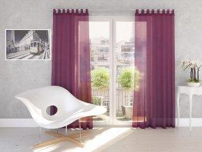 Dekorační záclona DIANA švestková 140x245 cm MyBestHome