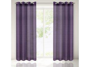 Dekorační záclona CELESTYN fialová 135x250 cm MyBestHome