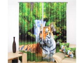 3D dekorační závěs 79 TIGER 2x160x250 cm MyBestHome