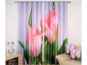 3D dekorační závěs 53 TULIPÁN 2x160x250 cm MyBestHome
