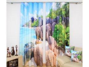 3D dekorační závěs 43 HOLIDAY 2x160x250 cm MyBestHome