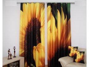 3D dekorační závěs 69 SLUNEČNICE 2x160x250 cm MyBestHome