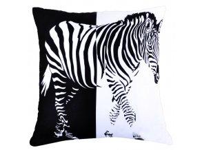 Polštář ZEBRA MyBestHome 40x40cm  fototisk 3D motiv zebra