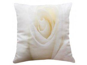 Polštář BÍLÁ RŮŽE MyBestHome 40x40cm fototisk 3D motiv s bílou růží