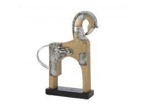 CAVALLO dekorativní soška béžová/stříbrná 23x6x30 cm Mybesthome