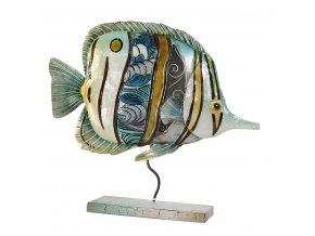 FISH dekorativní soška 28x9x25 cm Mybesthome