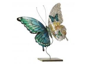 BUTTERFLY dekorativní soška 41x12x46 cm Mybesthome