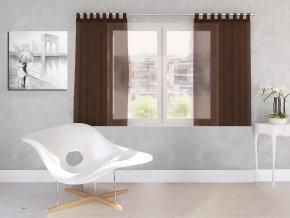 Dekorační záclona DIANA čokoládová 140x160 cm MyBestHome