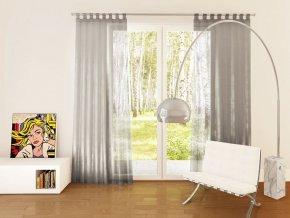 Dekorační záclona s leskem - organza OTYLIA stříbrná 140x245 cm MyBestHome